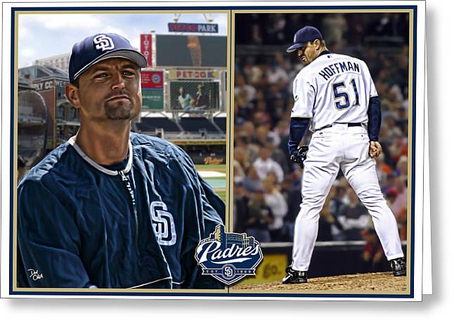 Cy Young Digital Greeting Cards - Trevor Hoffman Greeting Card by Don Olea
