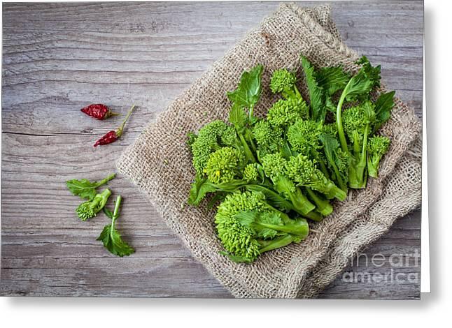 Broccoli Greeting Cards - Turnip Tops Greeting Card by Sabino Parente