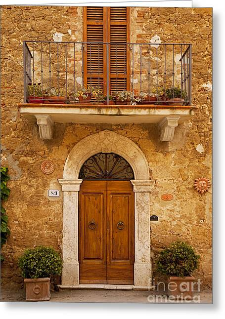 Entryway Greeting Cards - Tuscan Door Greeting Card by Brian Jannsen