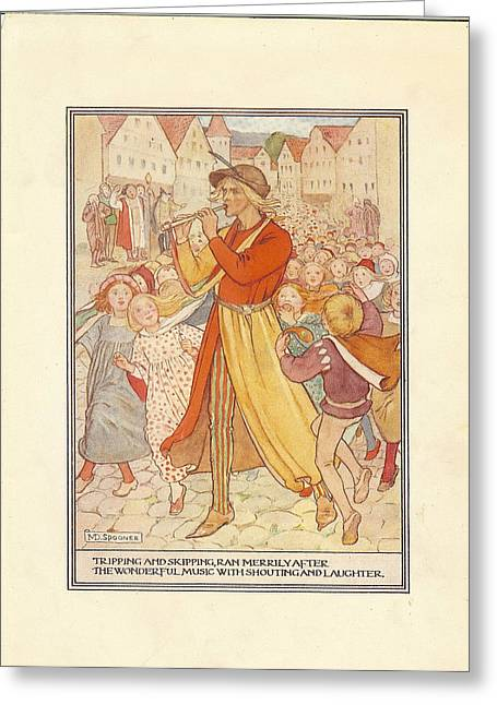 Nursery Rhyme Drawings Greeting Cards - Uk Illustrations Book Plate Greeting Card by The Advertising Archives
