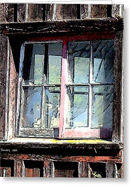 Old Barns Greeting Cards - Untitled Greeting Card by Everett Bowers