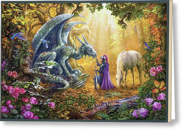 Rainbow Unicorn Greeting Cards - Sunset Unicorns Greeting Card by Jan Patrik Krasny