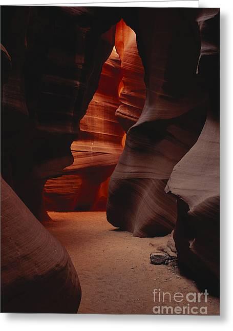 Water Worn Sandstone Greeting Cards - Upper Antelope Canyon, Arizona Greeting Card by George Ranalli