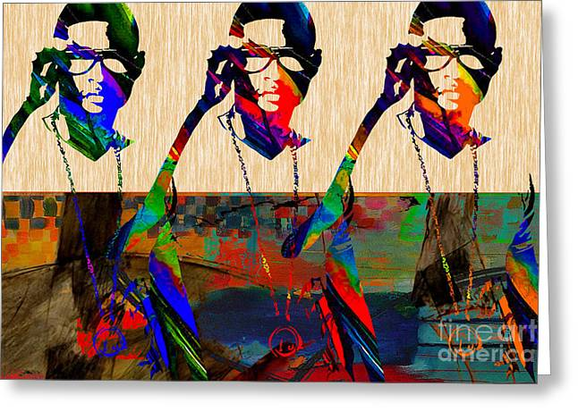 The Voice Greeting Cards - Usher Greeting Card by Marvin Blaine