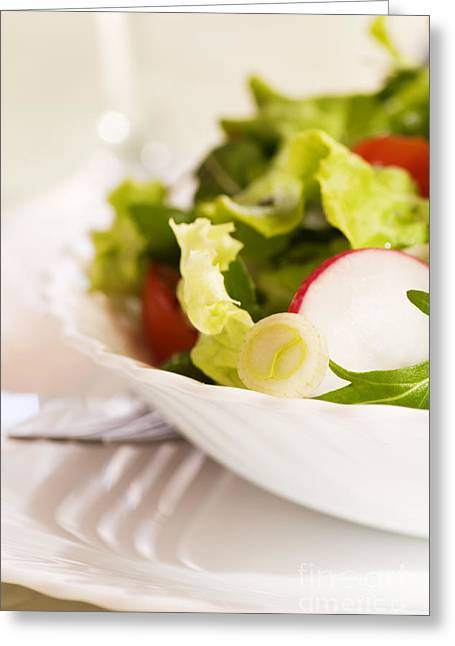 Low-fat Greeting Cards - Vegetable salad Greeting Card by Mythja  Photography