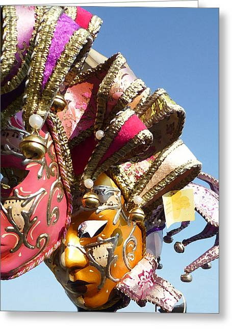 Mask Greeting Cards - Venetian Masks  Greeting Card by Irina Sztukowski