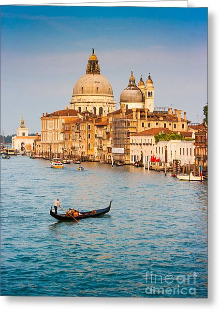 Accademia Greeting Cards - Venice Sunset Greeting Card by JR Photography