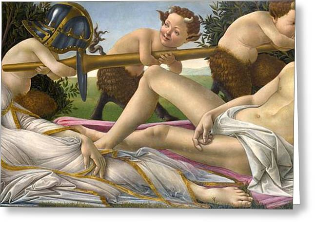 Dress Greeting Cards - Venus and Mars Greeting Card by Sandro Botticelli