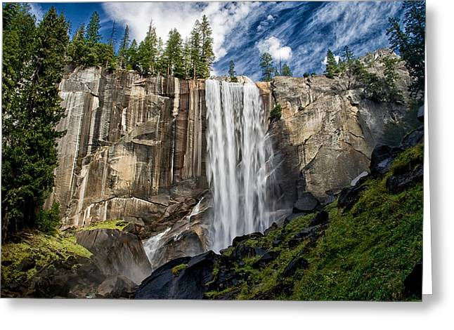 Vernal Falls Greeting Card by Cat Connor
