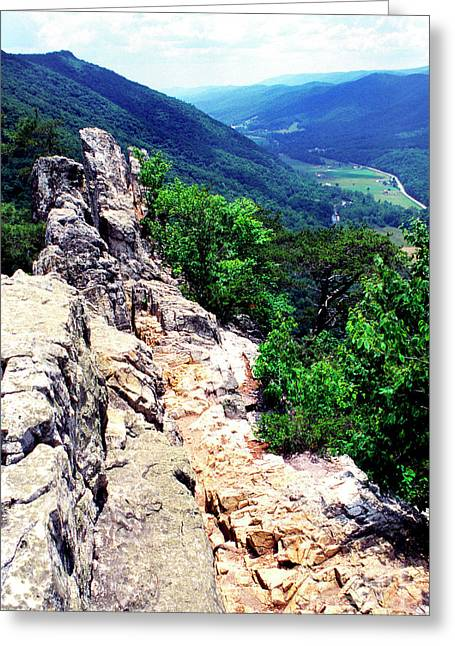 Seneca Greeting Cards - View from atop Seneca Rocks Greeting Card by Thomas R Fletcher