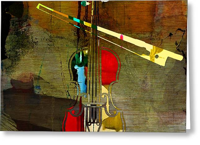 Musical Instruments Greeting Cards - Violin Greeting Card by Marvin Blaine