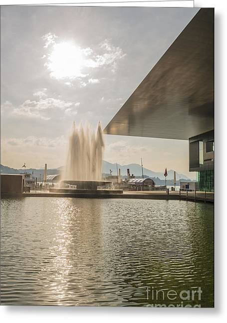 Reuss Greeting Cards - Water fountain Greeting Card by Mats Silvan