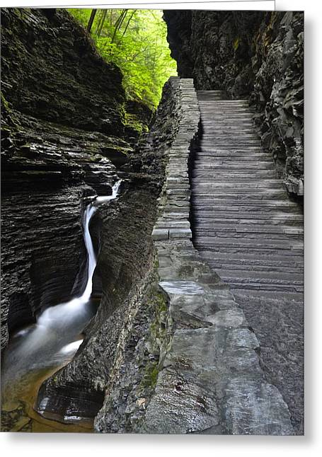 Finger Lakes Greeting Cards - Watkins Glen Greeting Card by Frozen in Time Fine Art Photography