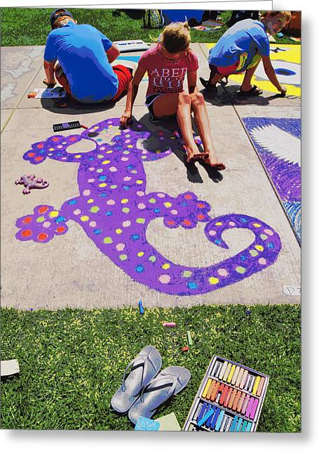 Thon Greeting Cards - Wausaus Chalkfest 2013 Greeting Card by Carol Toepke