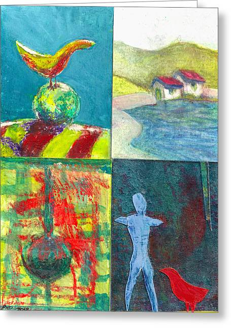 Parable Greeting Cards - 4 Way 1 Greeting Card by James Raynor