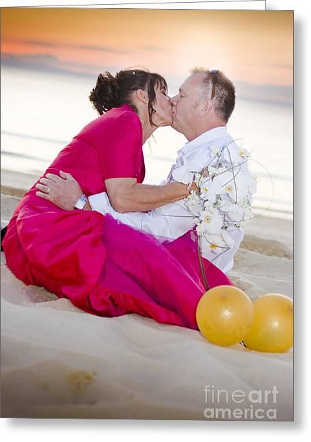Bridegroom Greeting Cards - Wedding Kiss Greeting Card by Ryan Jorgensen