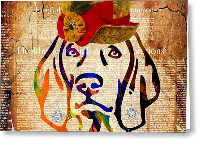 Dogs Greeting Cards - Weimaraner Collection Greeting Card by Marvin Blaine