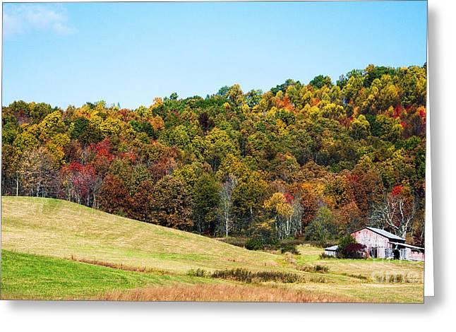Nicholas Greeting Cards - West Virginia Farm Greeting Card by Thomas R Fletcher