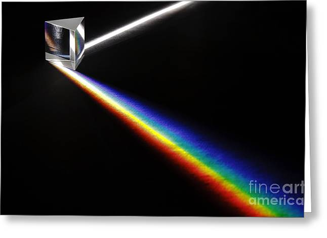 Geometric Effect Greeting Cards - White Light Spectrum Greeting Card by GIPhotoStock