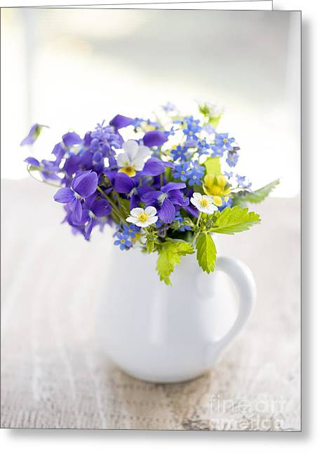 """forget Me Not"" Greeting Cards - Wildflower bouquet Greeting Card by Elena Elisseeva"