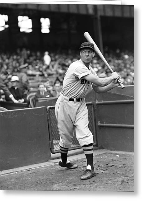 Third Baseman Greeting Cards - William M. Billy Werber Greeting Card by Retro Images Archive