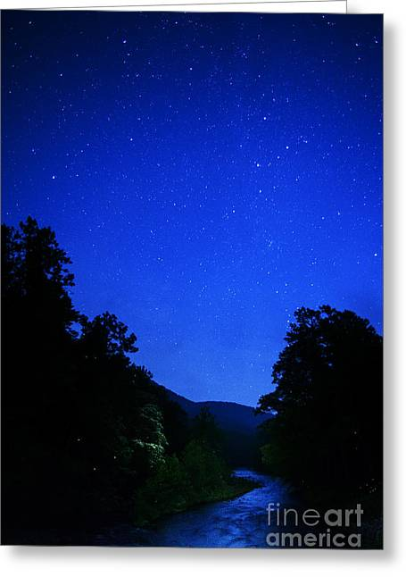 Allegheny Greeting Cards - Williams River Summer Solstice Night Greeting Card by Thomas R Fletcher
