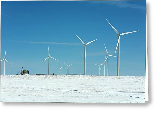 Wind Farm Greeting Card by Jim West