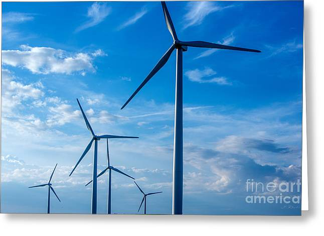 Commercial Photography Greeting Cards - Wind turbine Greeting Card by Iris Richardson