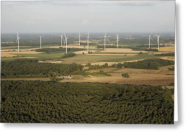 Generators Greeting Cards - Wind Turbines, Archigny Greeting Card by Laurent Salomon