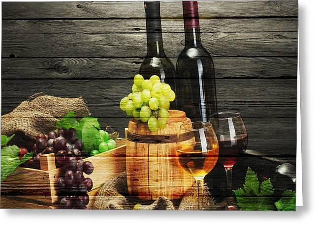 Napa Valley Greeting Cards - Wine Greeting Card by Joe Hamilton