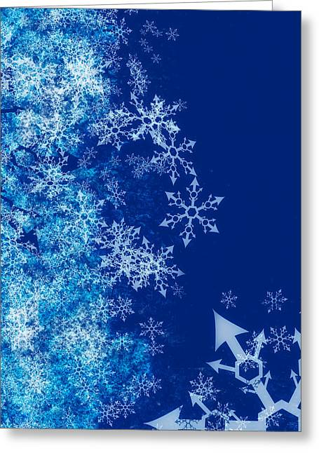 Twinkle Greeting Cards - Winter Abstract Greeting Card by Modern Art Prints