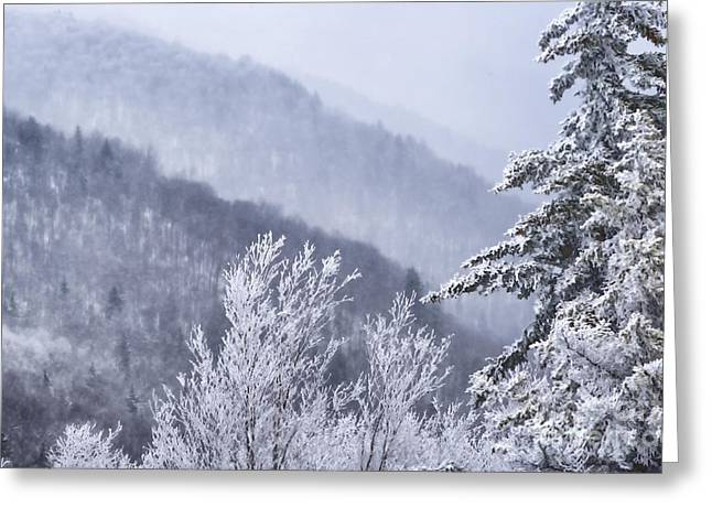 Nature Scene Digital Art Greeting Cards - Winter Highland Scenic Highway Greeting Card by Thomas R Fletcher