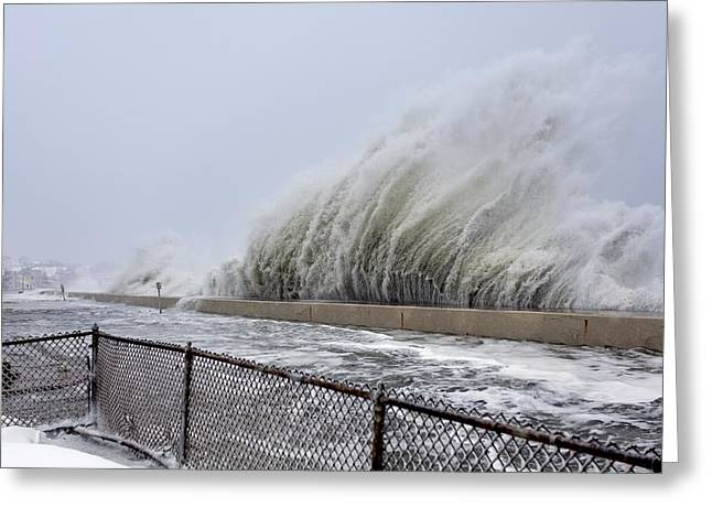 Winter Storm Nemo, February 2013, Usa Greeting Card by Science Photo Library