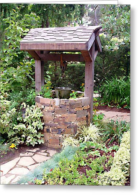 Wishes Greeting Cards - Wishing Well Greeting Card by Ellen Henneke