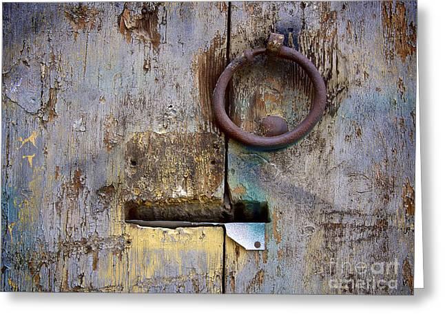 France Doors Greeting Cards - Wooden door Greeting Card by Bernard Jaubert