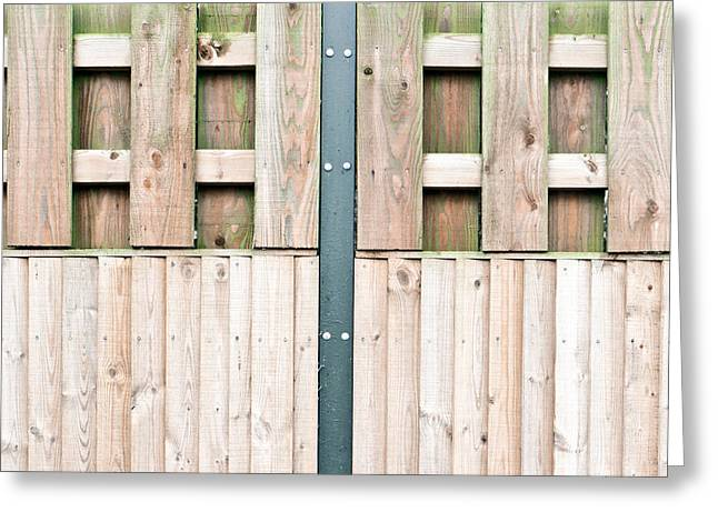 Timber Posts Greeting Cards - Wooden fence Greeting Card by Tom Gowanlock