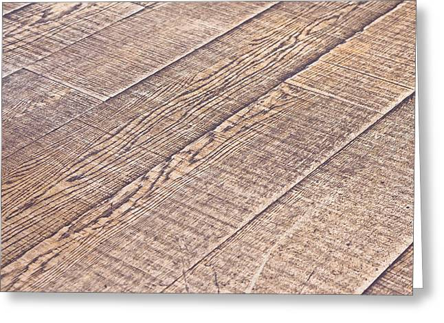 Wood Grain Greeting Cards - Wooden floor Greeting Card by Tom Gowanlock