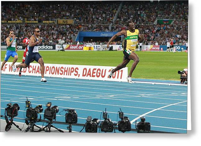 21st Greeting Cards - World Athletics Championships, Korea Greeting Card by Science Photo Library