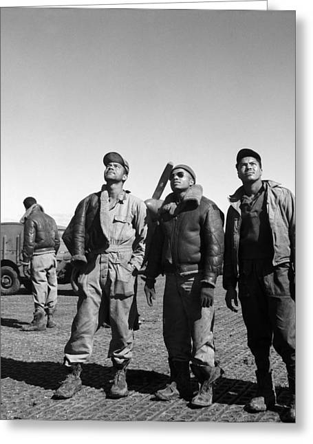 Ramitelli Greeting Cards - Wwii: Tuskegee Airmen, 1945 Greeting Card by Granger