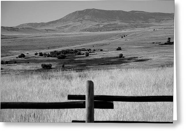 Distance Framed Prints Greeting Cards - Wyoming Landscape Greeting Card by Frank Romeo