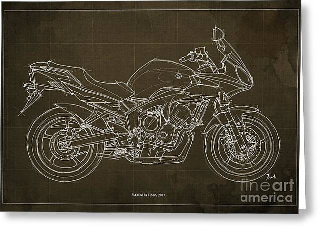 Yamaha Greeting Cards - Yamaha FZ6b 2007 Greeting Card by Pablo Franchi