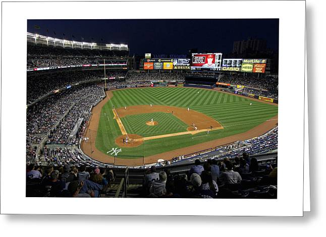 Yankee Stadium Bleachers Greeting Cards - Yankee Stadium 3 Greeting Card by Allen Beatty