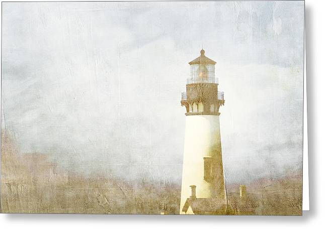 Lighthouse Greeting Cards - Yaquina Head Light Greeting Card by Carol Leigh