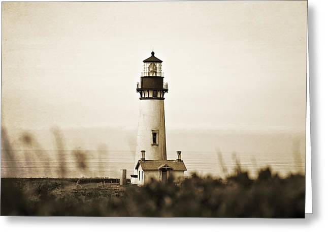 Treatment Greeting Cards - Yaquina Head Lighthouse Greeting Card by Scott Pellegrin