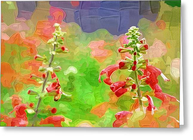 Prints Of Flowers Greeting Cards - Art prints Of Flowers Greeting Card by Victor Gladkiy