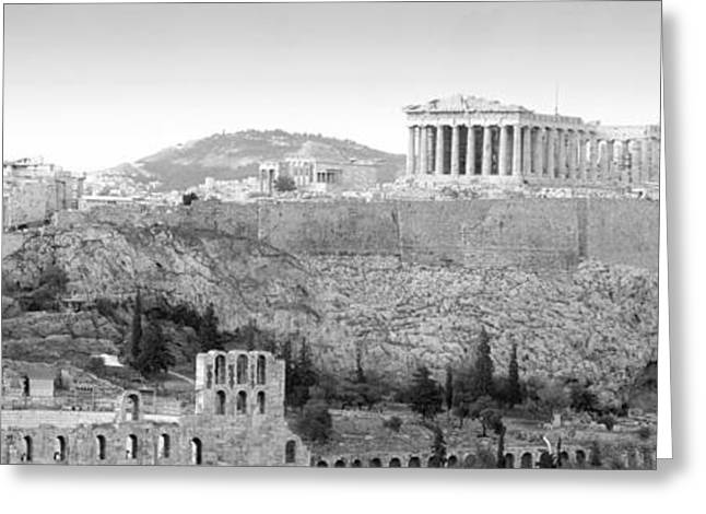 Acropolis Greeting Cards - High Angle View Of Buildings In A City Greeting Card by Panoramic Images