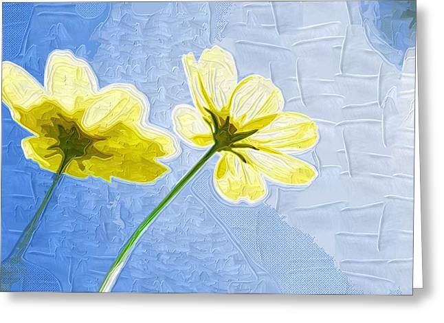 Easter Flowers Greeting Cards - Painting Flowers pictures Greeting Card by Victor Gladkiy