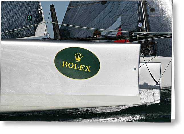 Florida Bridge Greeting Cards - Rolex Big Boat Series Greeting Card by Steven Lapkin