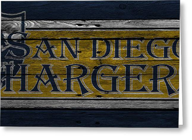 San Diego Greeting Cards - San Diego Chargers Greeting Card by Joe Hamilton