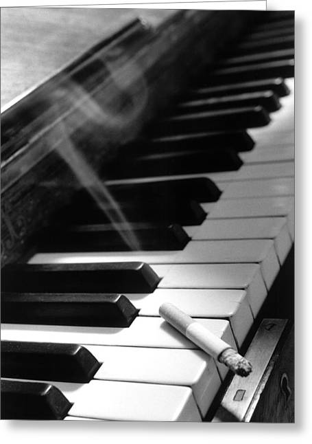 Jazz Pianist Greeting Cards - Untitled Greeting Card by Didier Gaillard